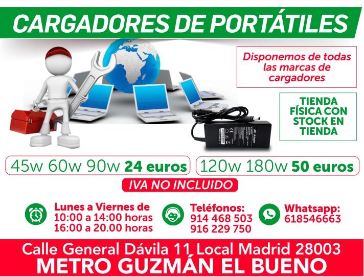 618546663 garantia en cargadores para portatiles