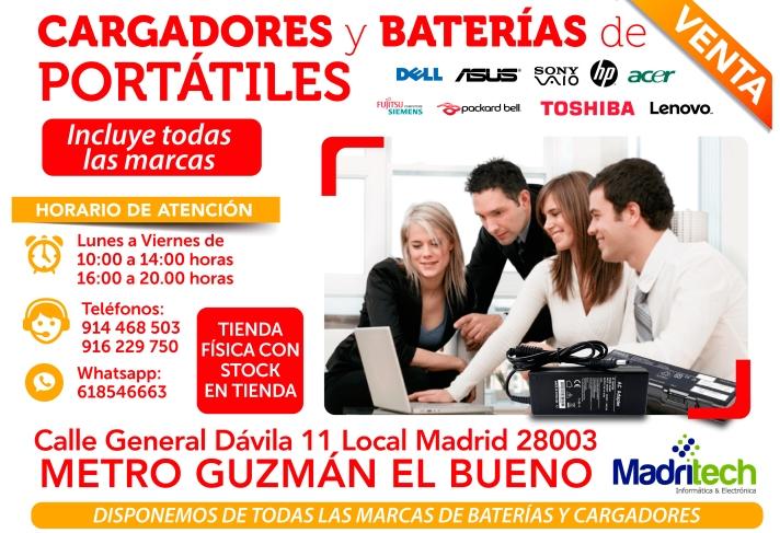 618546663 madritech baterias y cargadores para portatiles al momento