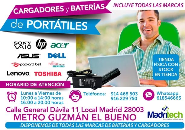 618546663 madritech baterias y cargadores para portatiles en todas las marcas