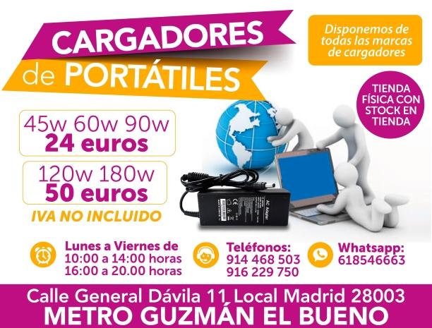 618546663 madritech cargadores para portatiles en el acto