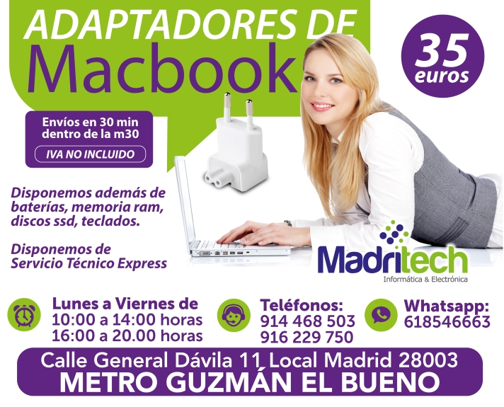 adaptadores de macbook madrid
