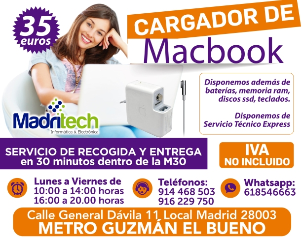 cargador de macbook en madritech