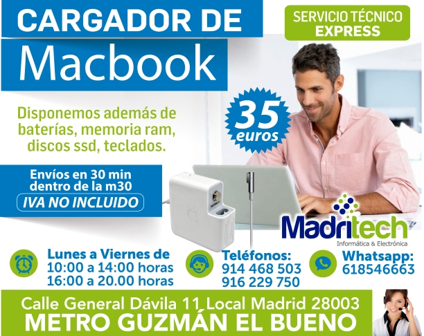 cargador de macbook