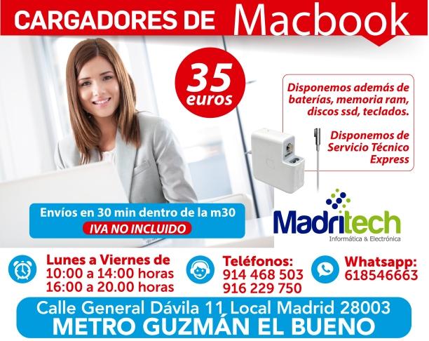 cargadores de macbook madritech