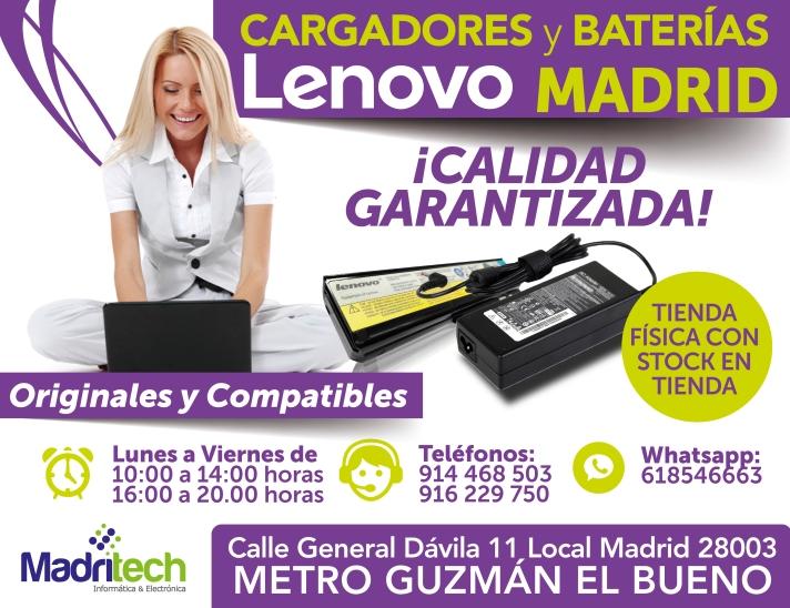 cargadores y baterias lenovo en madrid(1)